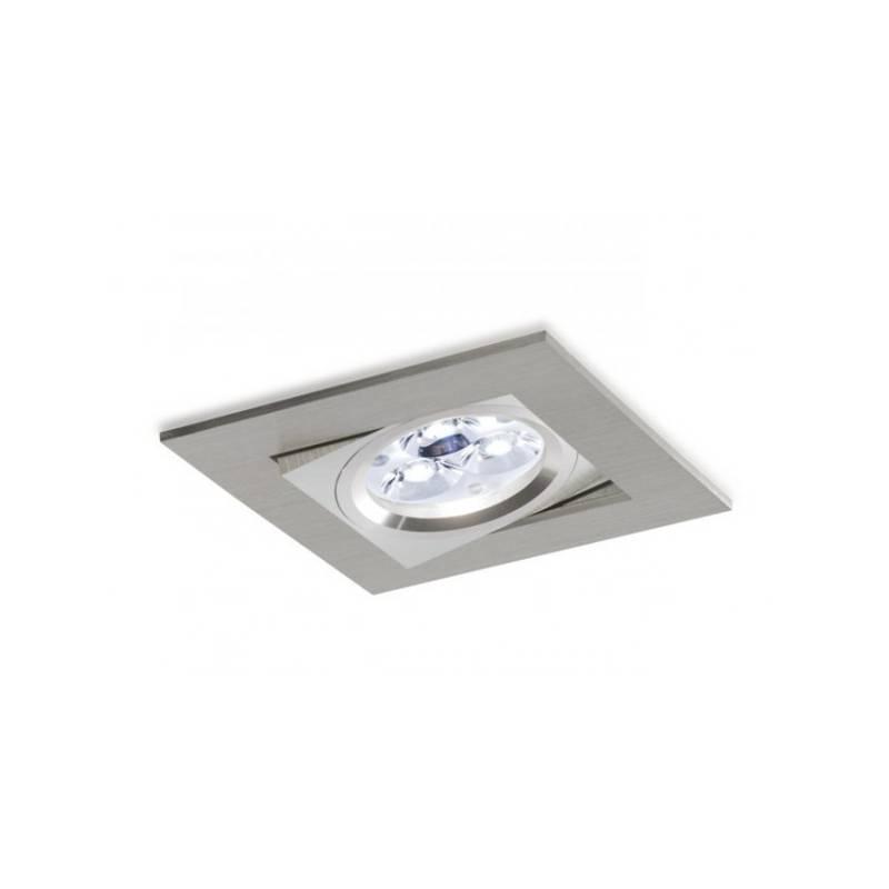 Foco empotrable LED 8w 3000 Sharp cuadrado basculante