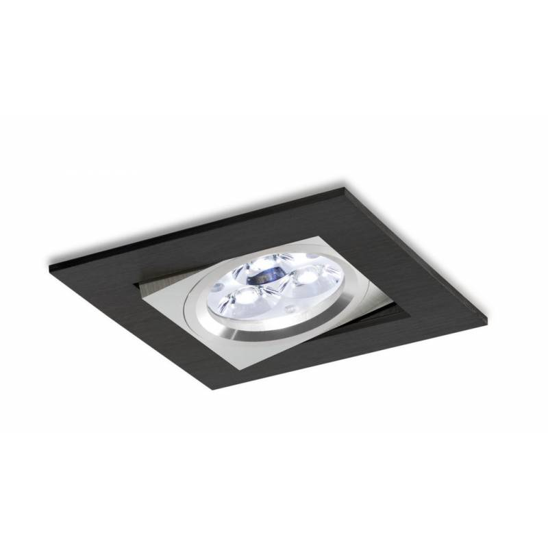 BPM 3002 square recessed light LED 6w black
