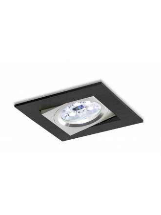 Foco empotrable LED 8w 3002 Sharp cuadrado negro basculante