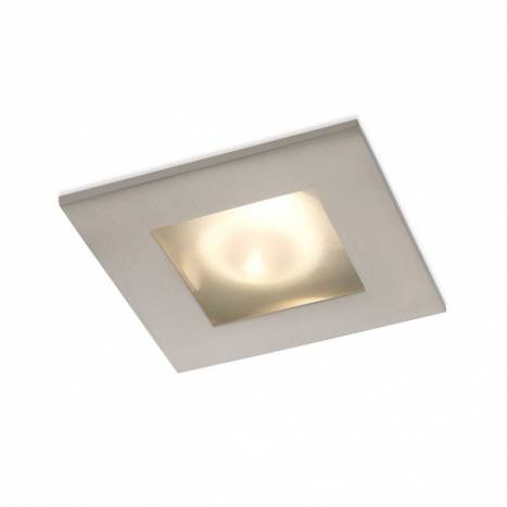 BPM Square IP44 recessed light steel and glass