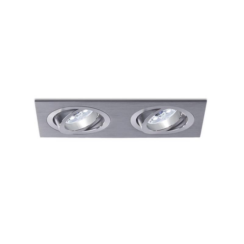 BPM Mini Katli recessed 2 light aluminium