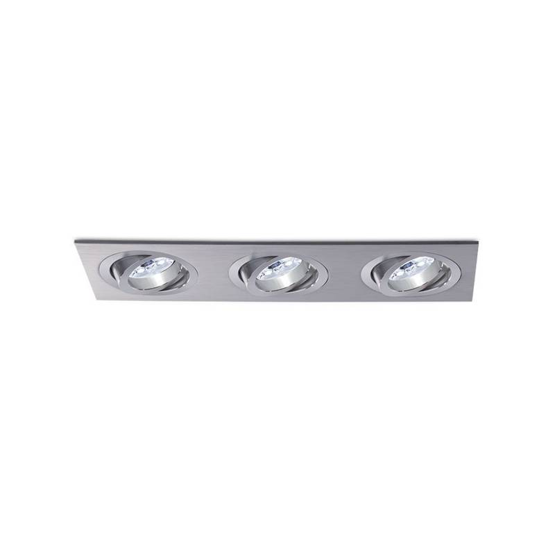 BPM Mini Katli recessed 3 light aluminium