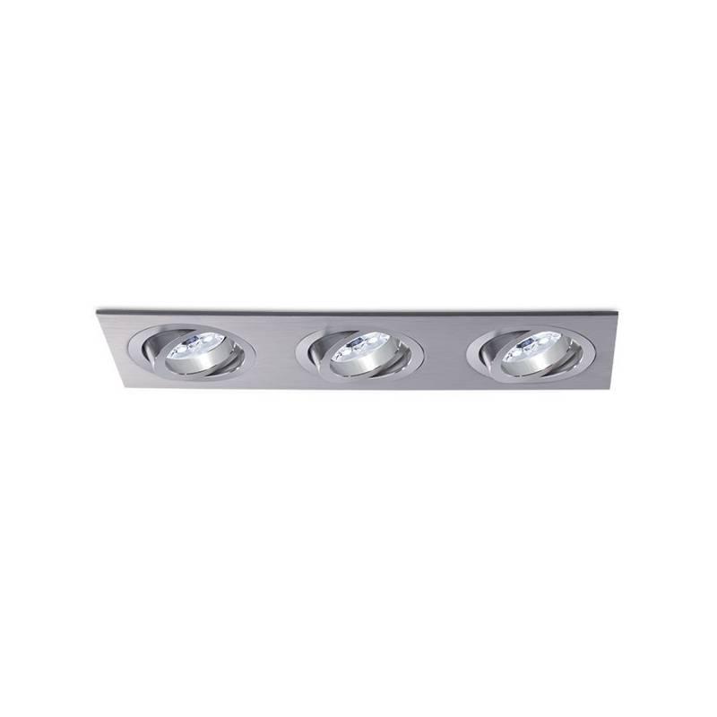 Foco empotrable Mini Catli 3 luces aluminio de Bpm