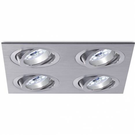 Foco empotrable Mini Catli 4 luces aluminio de Bpm