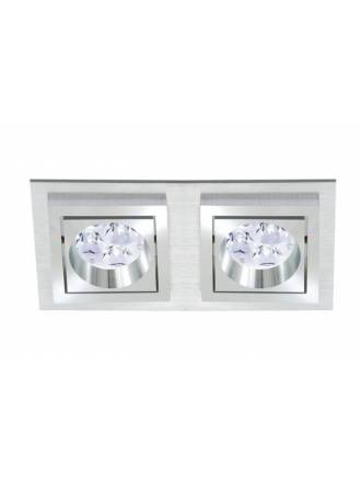 BPM Square recessed 2 light aluminium