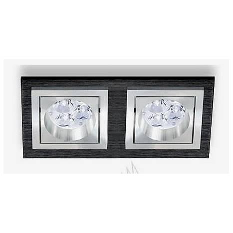 Foco empotrable Square 3068 aluminio negro de Bpm
