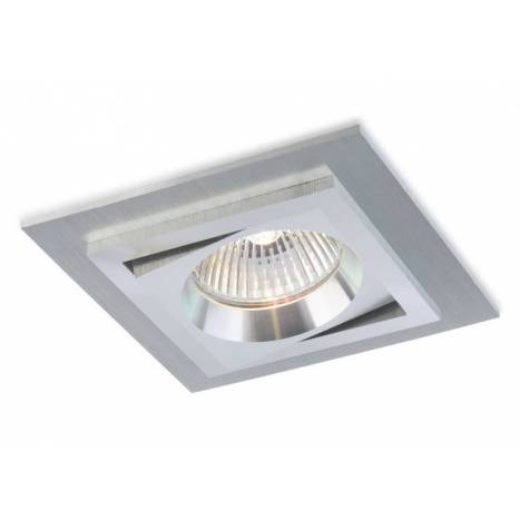 BPM Square recessed light aluminium