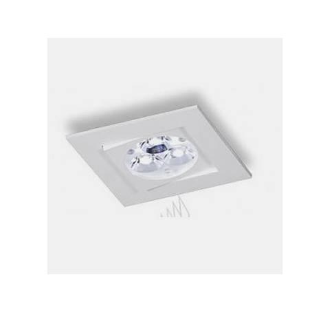 BPM Care square recessed light white aluminium