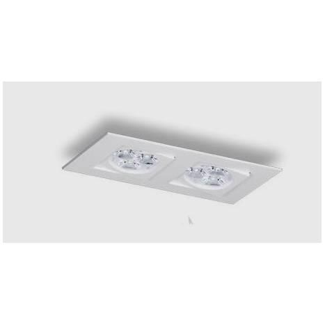 Foco empotrable Care 2 luces aluminio blanco de Bpm