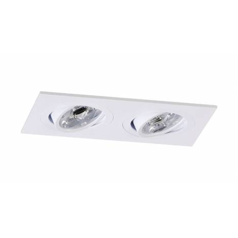 Foco empotrable Mini Catli 2 luces rectangular blanco de Bpm