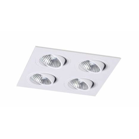 Foco empotrable Mini Catli 4 luces cuadrado blanco de Bpm