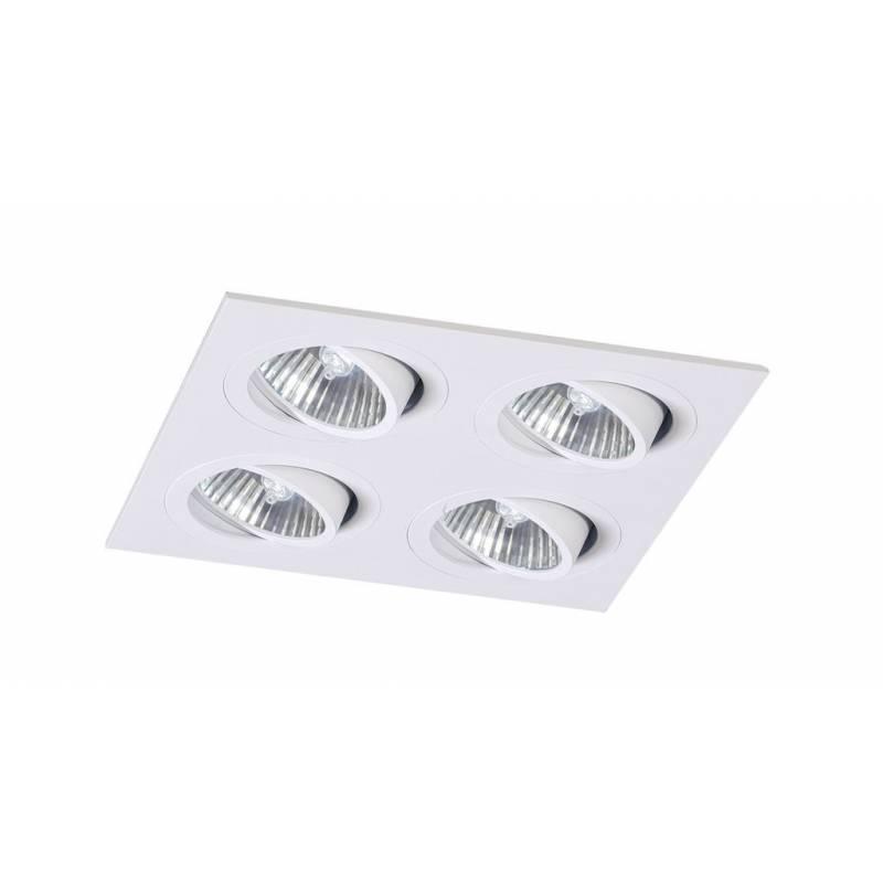 Foco empotrable Mini Catli 4 luces cuadrado blanco de Bpm