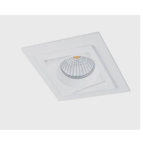 BPM Square recessed light white aluminium
