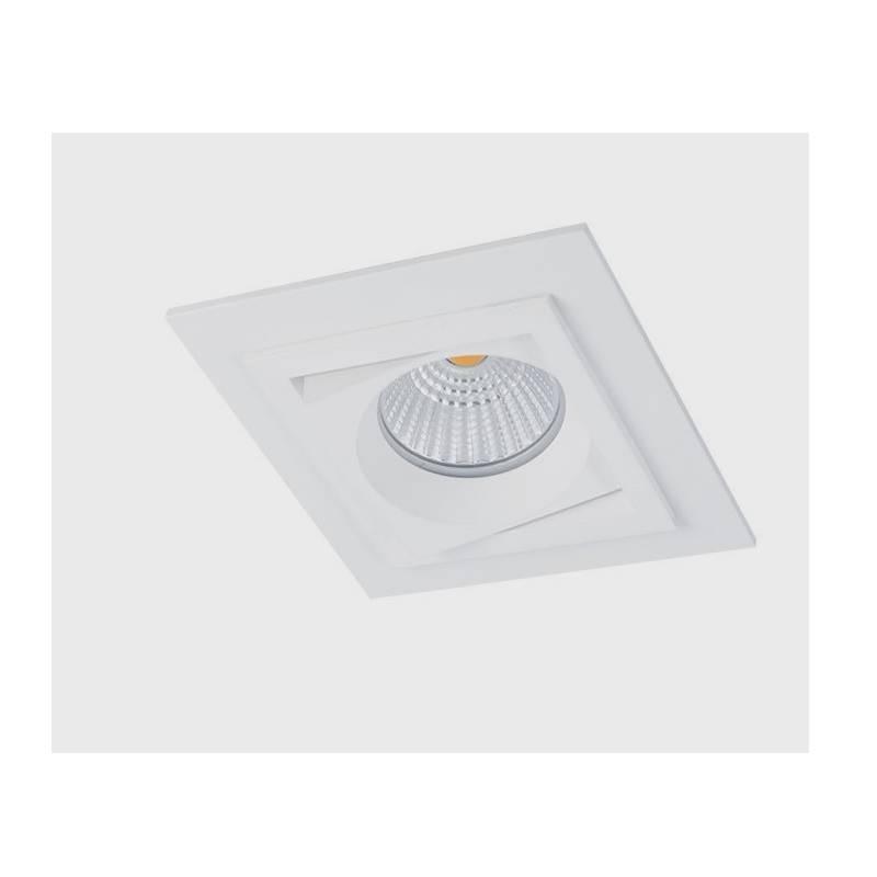 BPM Square recessed light white aluminium