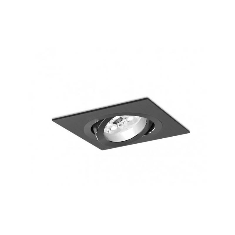 Foco empotrable Mini Katli cuadrado negro de Bpm