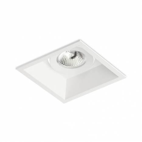 BPM Derin square recessed light white aluminium