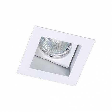 BPM Basit square recessed light white aluminium