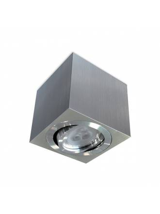 BPM Kup square surface spotlight 1L GU10 aluminium
