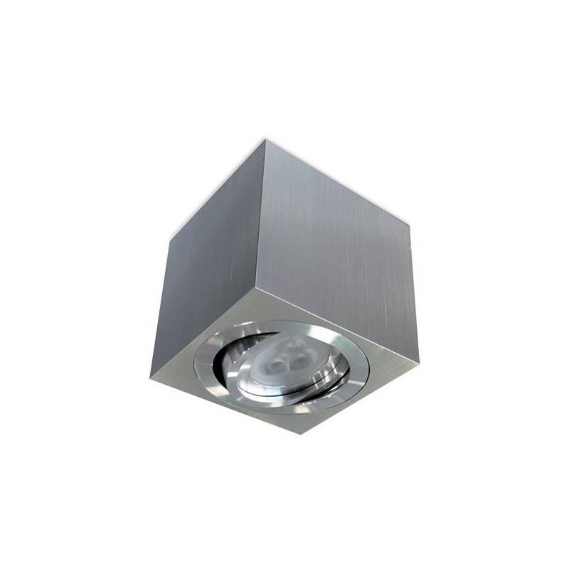 BPM Kup square surface spotlight 1L GU10 aluminium