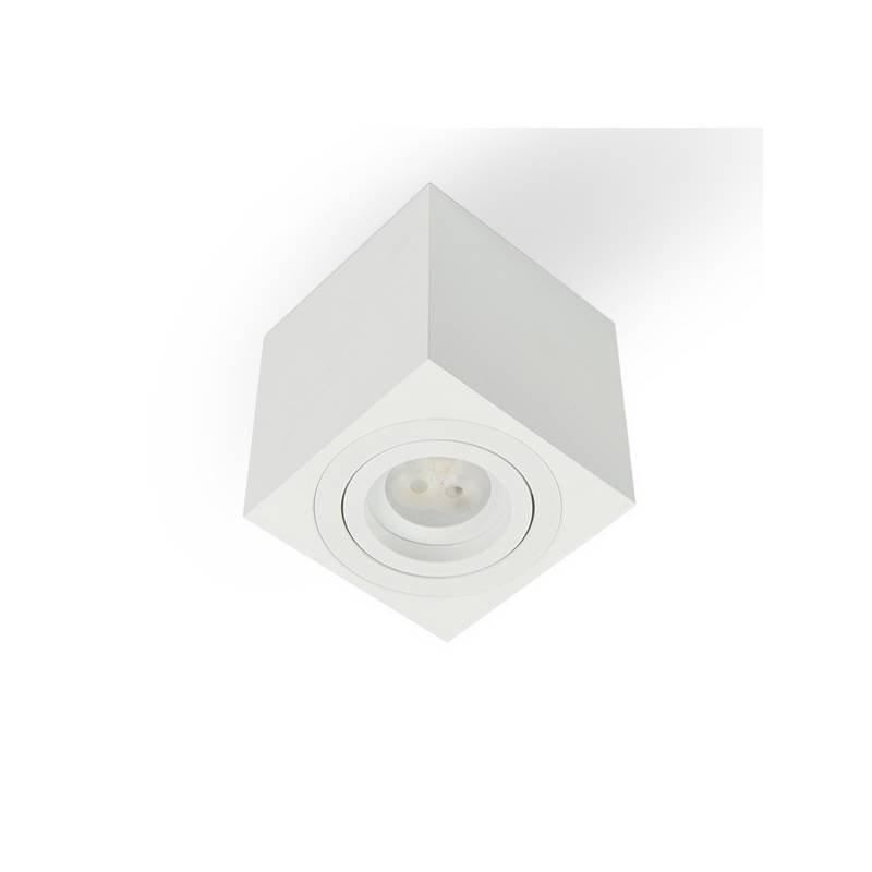BPM Kup square surface spotlight 1L GU10 white