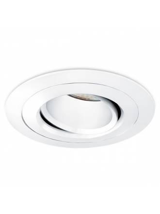 Foco empotrable Titan circular aluminio blanco de Bpm