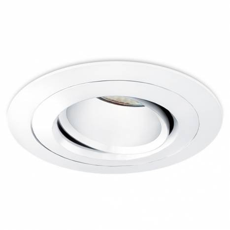 BPM Titan round recessed light white aluminium