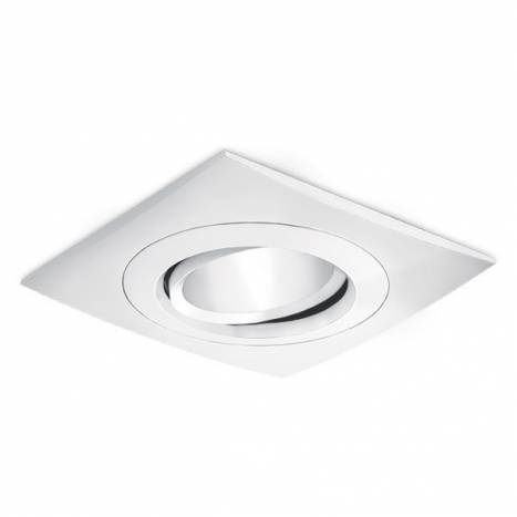 BPM Titan square recessed light white aluminium