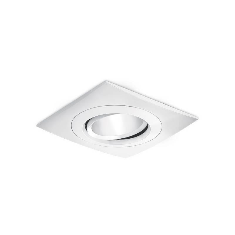 BPM Titan square recessed light white aluminium