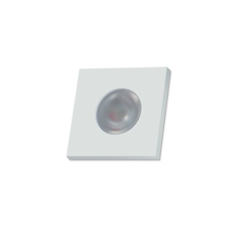 BPM Adima step light LED 3w square white aluminium
