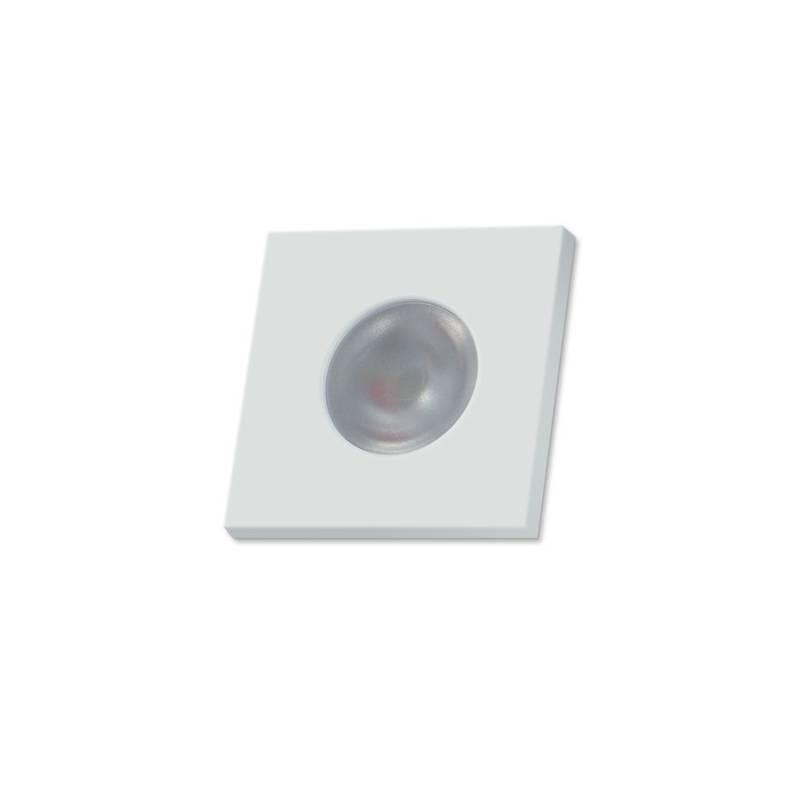 Foco empotrable Adima LED 3w cuadrado blanco de Bpm