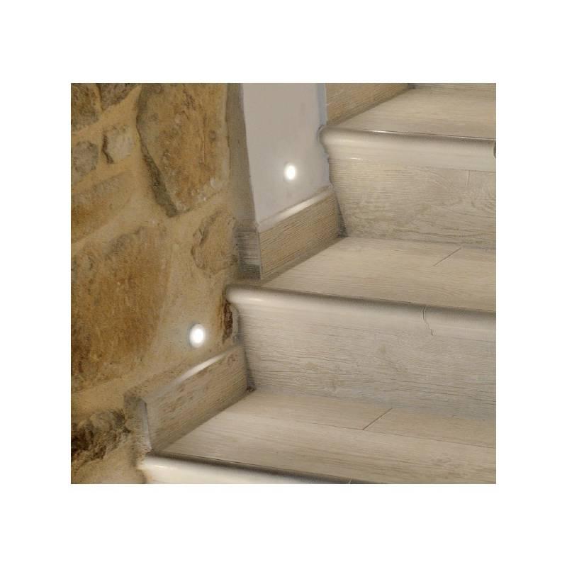 BPM Adima step light LED 3w round white aluminium