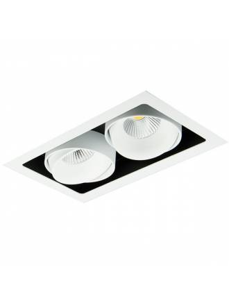 Foco empotrable Kuvet LED 2x10w aluminio blanco de Bpm