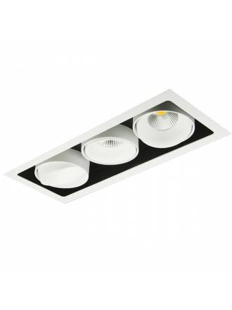 Foco empotrable Kuvet LED 3x10w aluminio blanco de Bpm