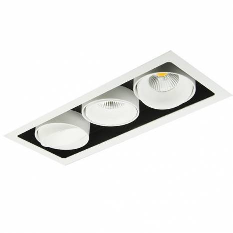BPM Kuvet recessed light LED 3x10w white aluminium