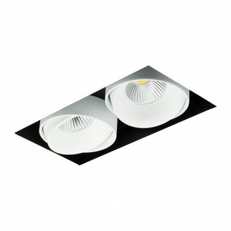 BPM Kuvet recessed light trimless LED 2x10w white