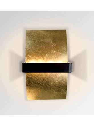 Aplique de pared Altin LED 4w metal pan de oro de Bpm