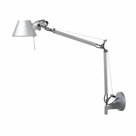 Aplique de pared Office 1 luz aluminio orientable