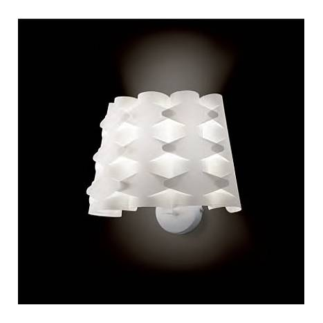 MASSMI Origami wall lamp 1L white fabric