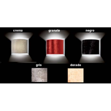 MASSMI Quasar wall lamp velvet colors