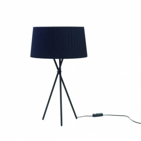 Tripode table lamp black fabric