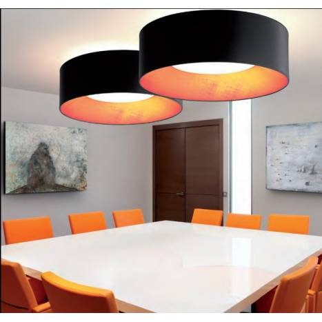 MASSMI In contract ceiling lamp black fabric