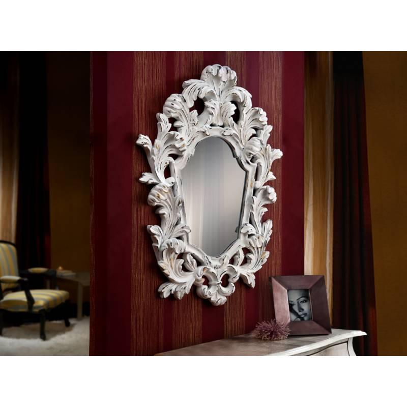 Espejo de pared juliette blanco mate schuller for Espejo pared marco blanco