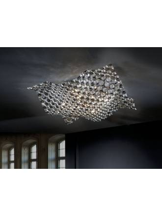 SCHULLER Saten ceiling lamp 5 lights large