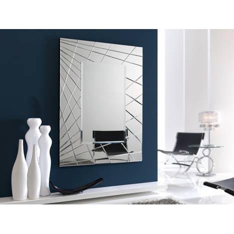 Espejo de pared cristal moderno fusion schuller for Decoracion espejo pared