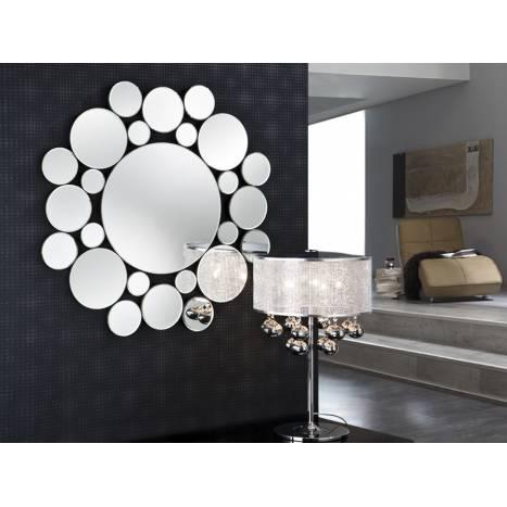 Espejo de pared Leila redondo de Schuller