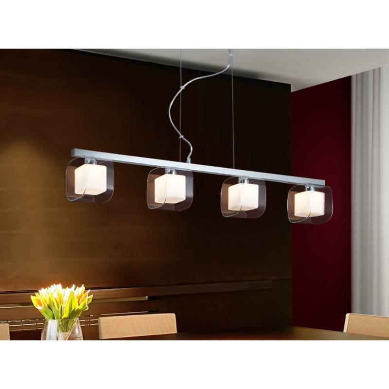 L mpara colgante cube 4 luces cromo schuller - Lamparas para espejos ...