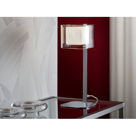 Sobremesa Cube 1 luz cromo y cristal Schuller