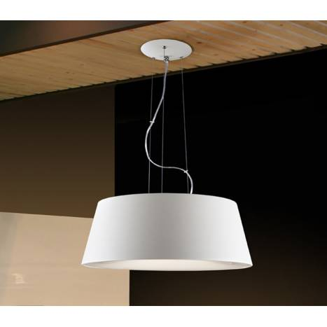 SCHULLER Zone pendant lamp ø50cm 4 lights white