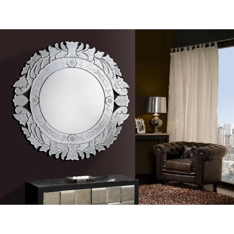 Espejo de pared audry plata schuller for Pared de espejo precio