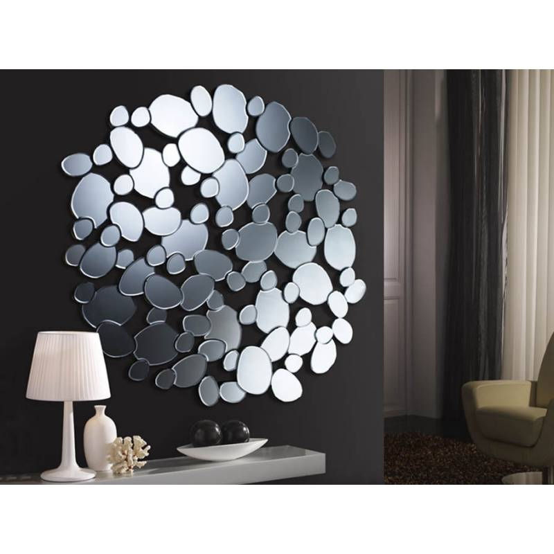 Espejo de pared cristal circular petra schuller for Espejos de pared decorativos baratos